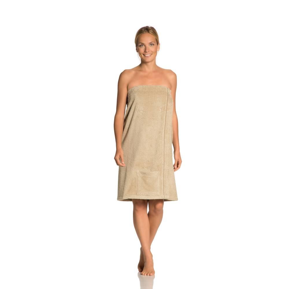 ženski kilt za savno livina rjava