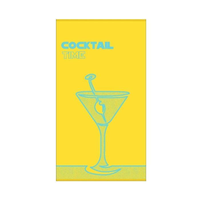 brisača za na plažo cocktail time rumena