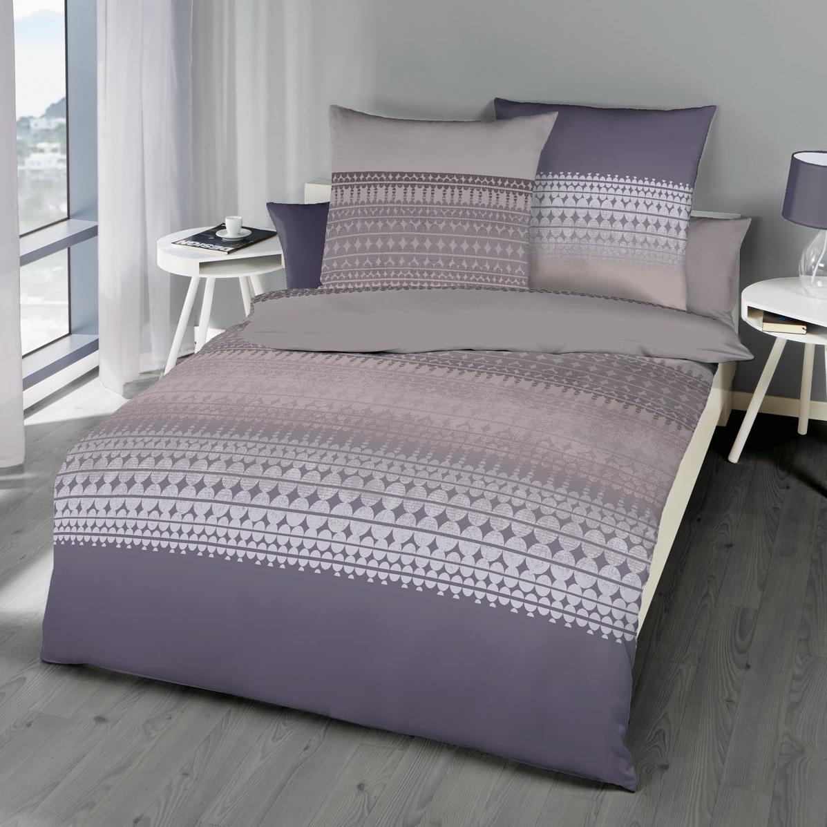 posteljnina kaeppel linon - vijolična