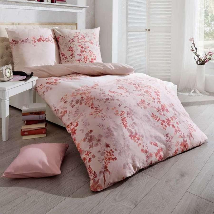 posteljnina iz satena kaeppel sweet home celia roza