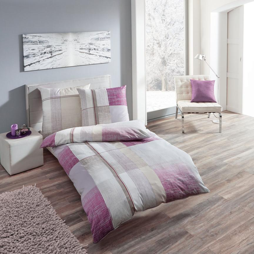 posteljnina iz satena kaeppel weave vijolična