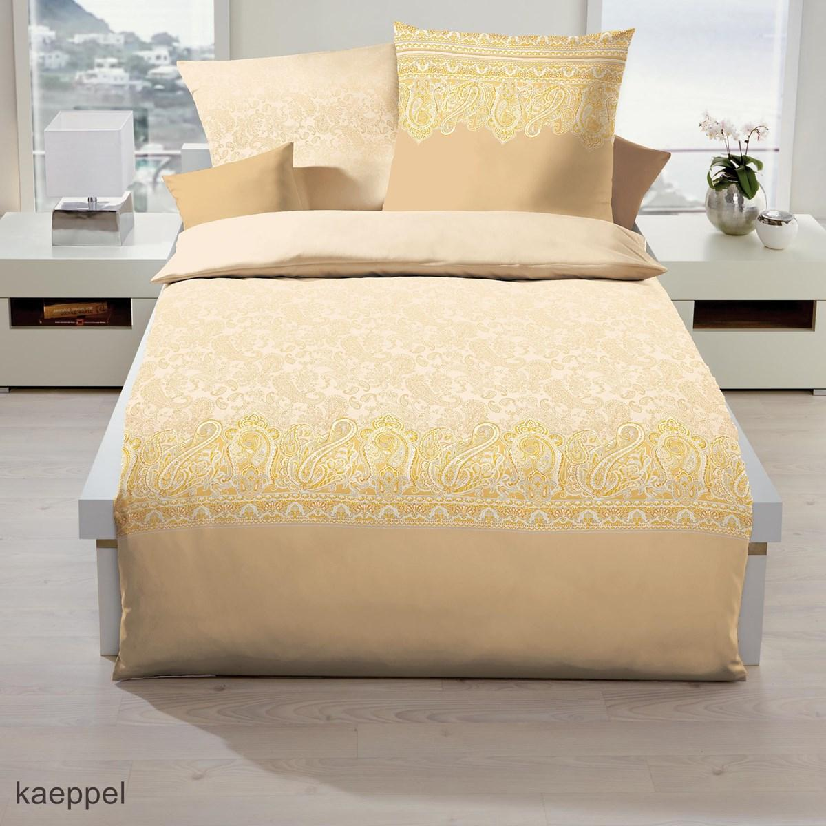 posteljnina iz satena kaeppel persis - zlato rumena