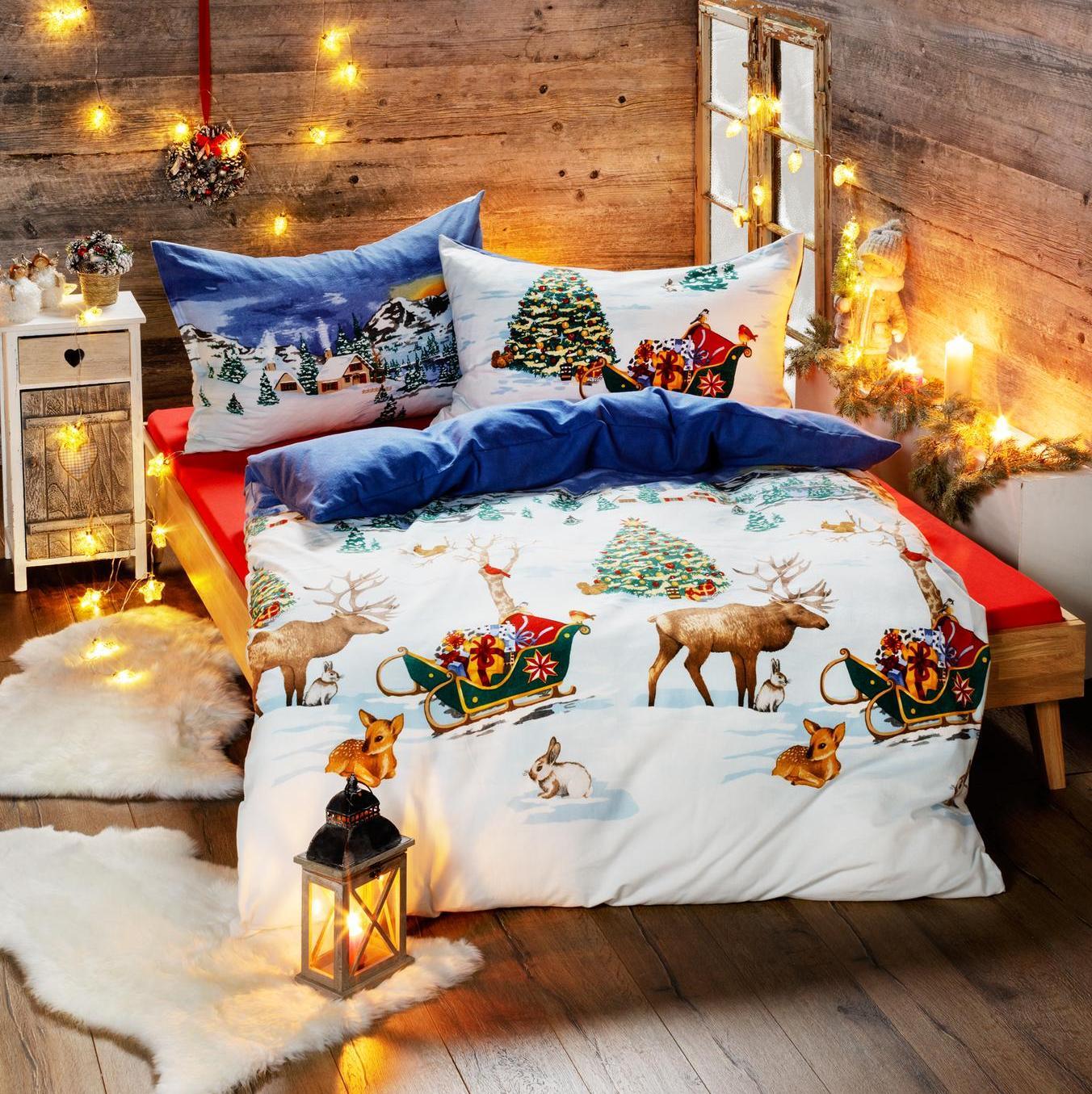 otroška posteljnina iz flanele - božična pravljica