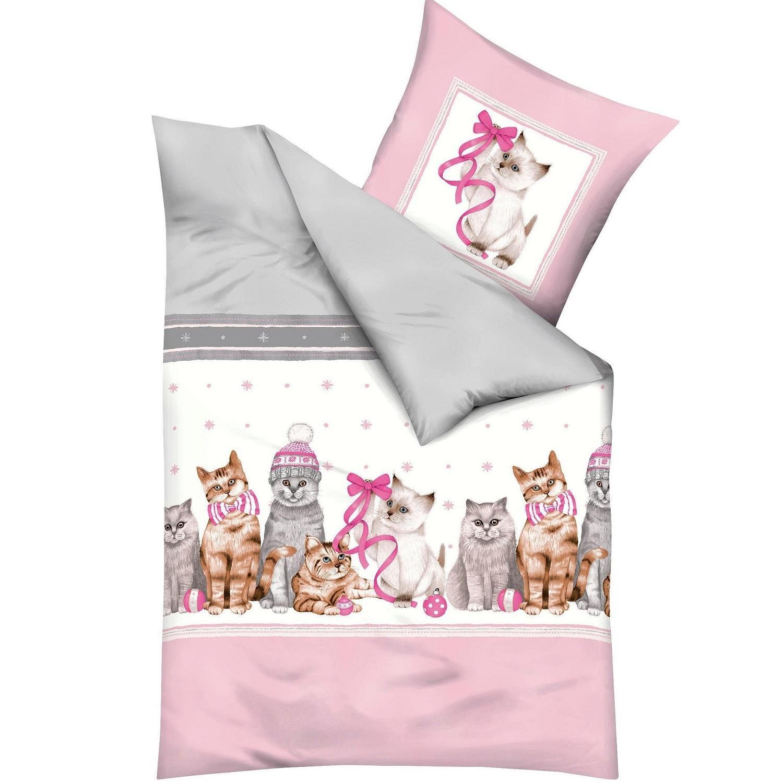 otroška posteljnina iz flanele - božične mucke