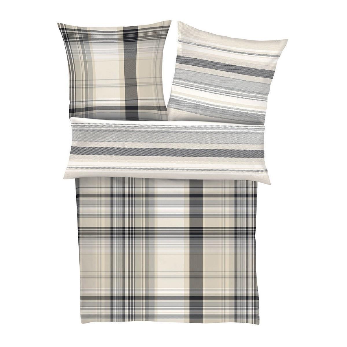 posteljnina iz satena bugatti - karo siva