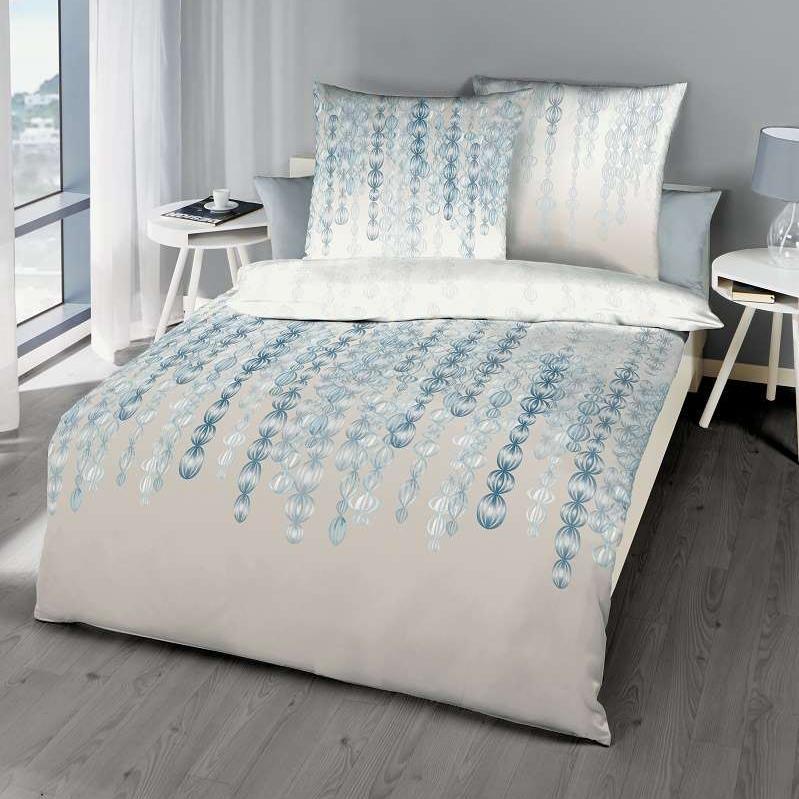 posteljnina iz satena kaeppel sweet home pearls modra