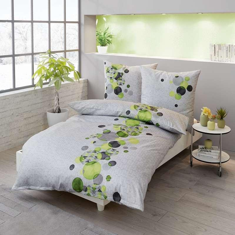posteljnina iz satena kaeppel sweet home global zelena