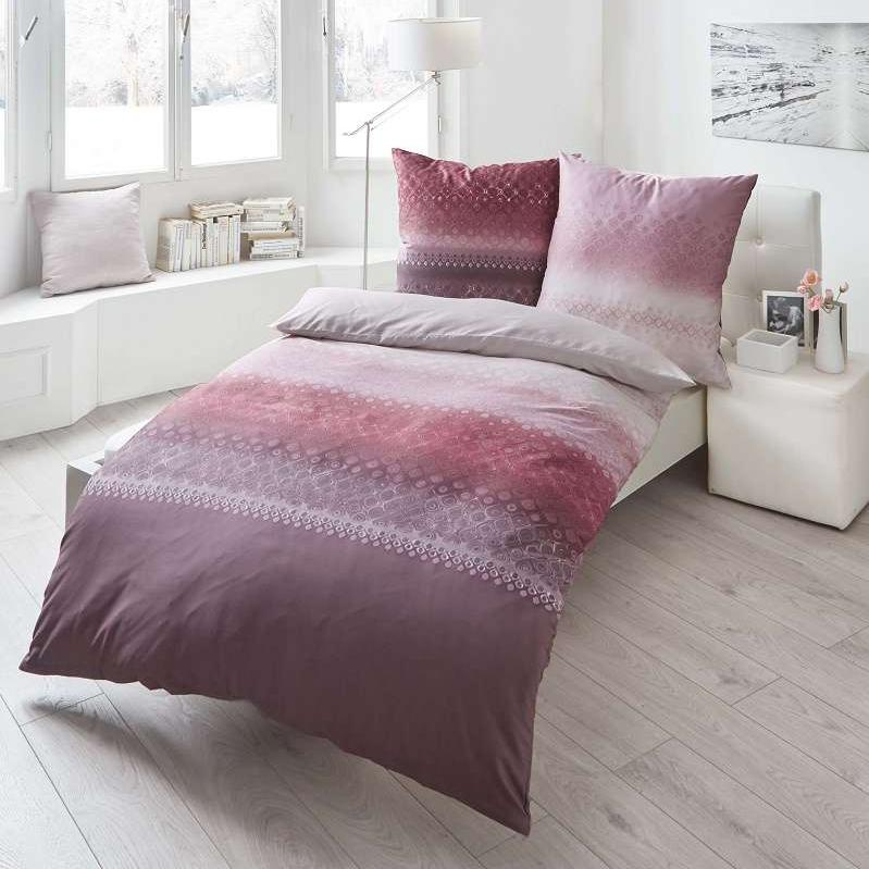 posteljnina iz satena kaeppel sweet home fluent vijolična