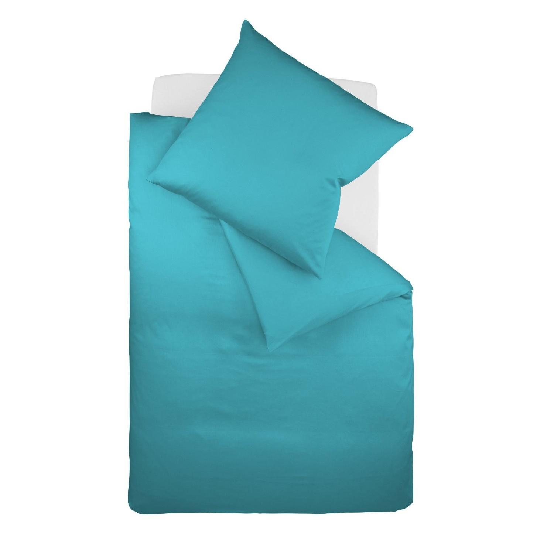 posteljnina iz satena fleuresse royal uni - modra