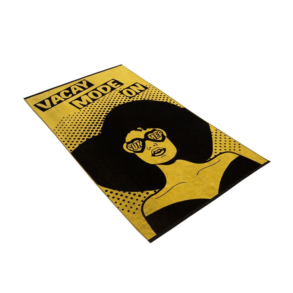 brisača za na plažo vossen vacay mode rumena