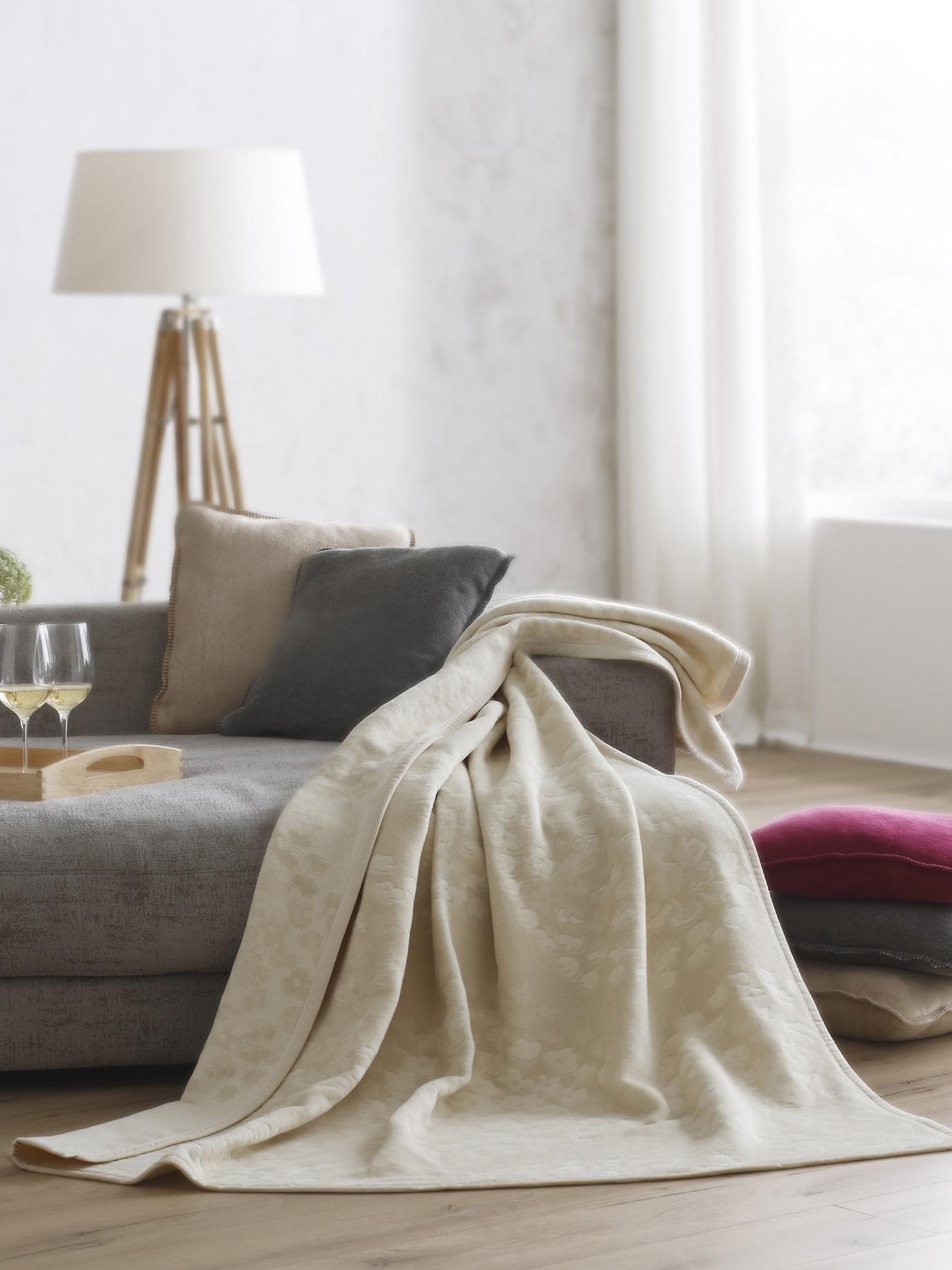 odeja biederlack visiona cotton hortensia