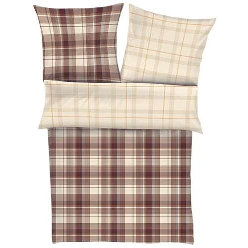 posteljnina iz flanele bugatti - rjava